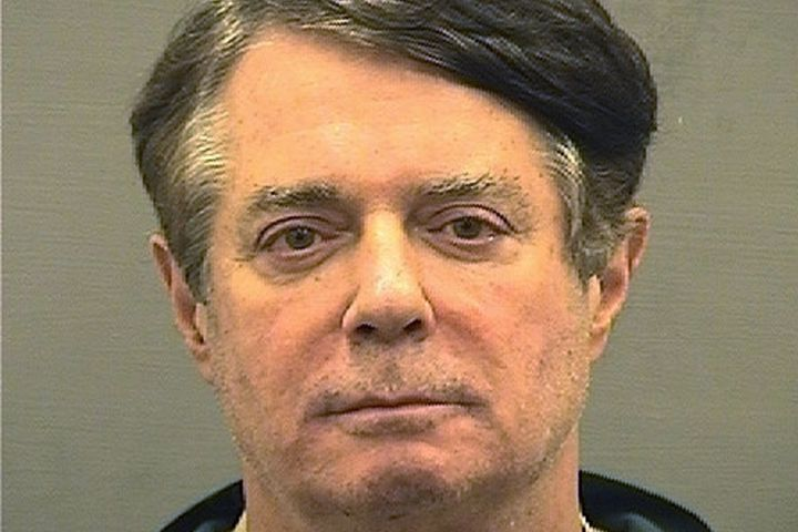 Former Trump campaign manager Paul Manafort is shown in this booking photo in Alexanderia, Virginia, U.S., July 12, 2018.&nbs