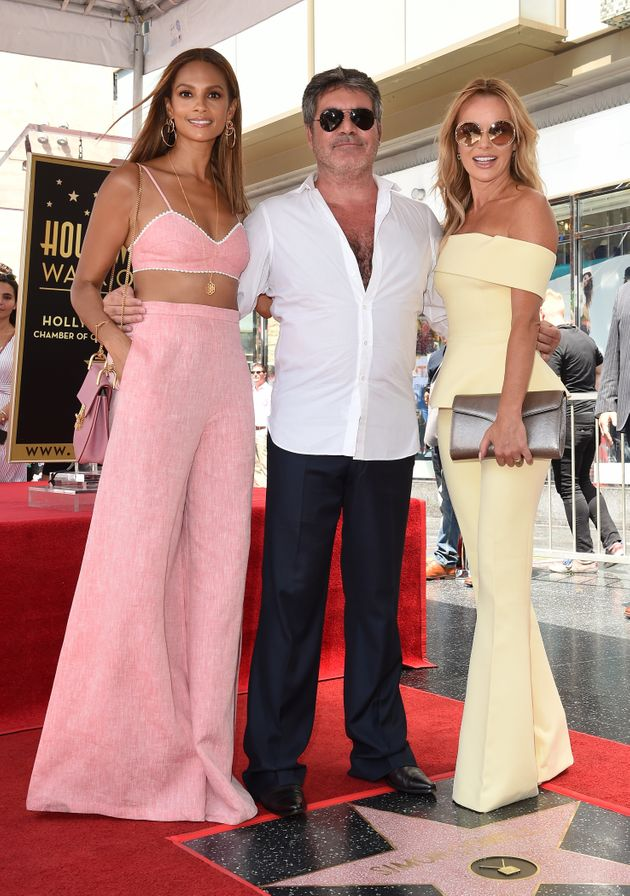 Alesha Dixon and Amanda Holden joined Simon Cowell at his Hollywood Walk Of Fame star