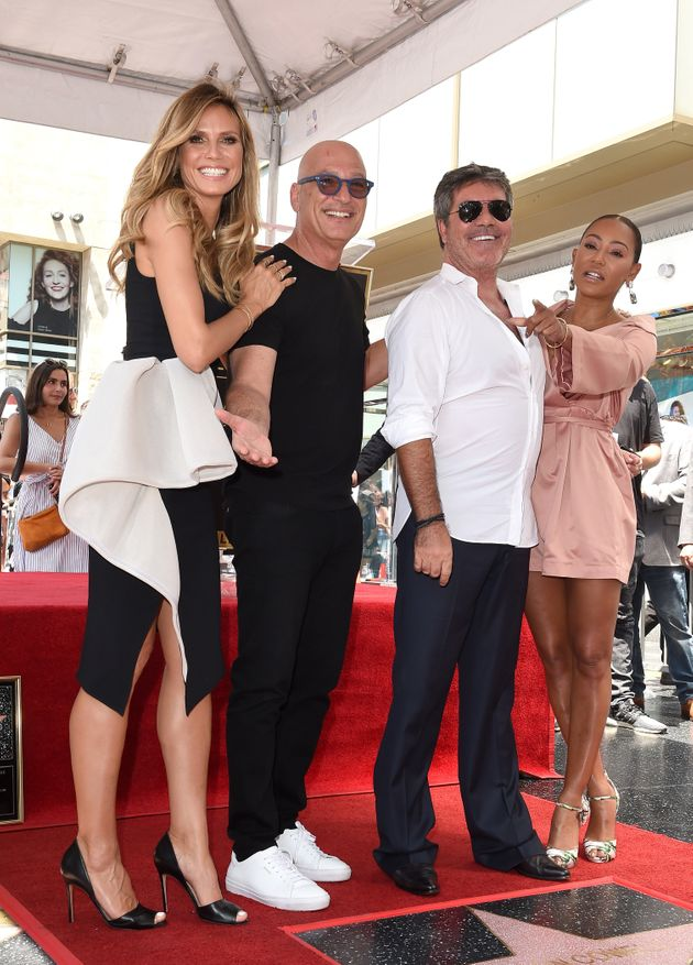 Simon was also supported by his 'America's Got Talent'