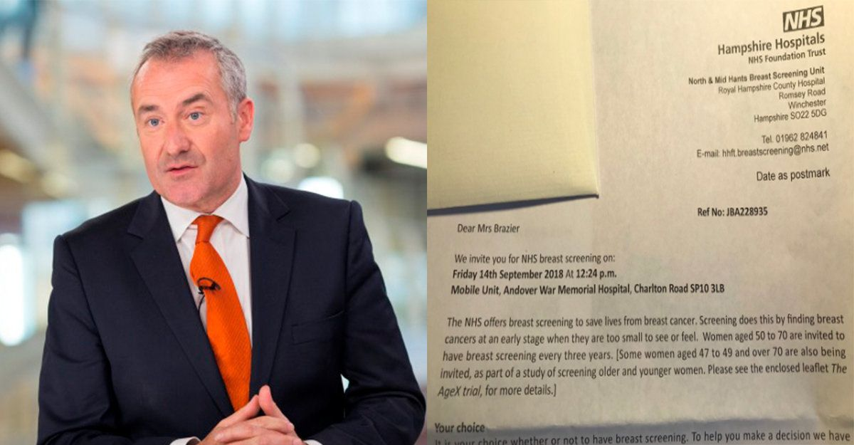 Sky News Presenter Colin Brazier Receives NHS Screening Reminder For Late Wife Who Died Of Breast