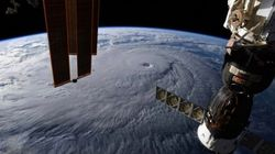 Les images impressionnantes de l'ouragan Lane vu de