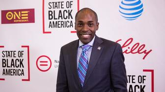 Paris Dennard, GOP commentator, on the red carpet for The State of Black America town hall taping, at the Howard Theatre on May 3, 2017 in Washington, DC.  (Photo by Cheriss May/NurPhoto via Getty Images)