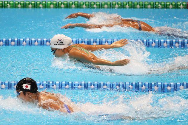 아시안게임 수영 김혜진이 중국 선수에 보복 가격 당했다는 논란이