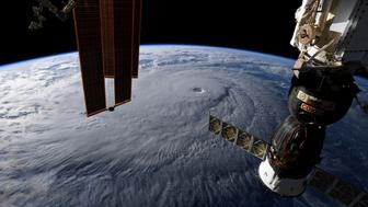 A photo taken from the International Space Station and moved on social media by astronaut Ricky Arnold shows Hurricane Lane in the early morning hours near Hawaii, U.S., August 22, 2018. Courtesy @astro_ricky/NASA/Handout via REUTERS ATTENTION EDITORS - THIS IMAGE HAS BEEN SUPPLIED BY A THIRD PARTY. MANDATORY CREDIT. TPX IMAGES OF THE DAY