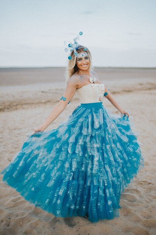 This Amazing Dress Is Made Out Of Plastic Bottles Discarded On The
