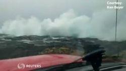 Κύματα...Χαβάη 5.0 από τον τυφώνα