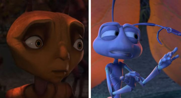 """""""Antz"""" and """"A Bug's Life"""" hit theaters within a couple of months of each other in 1998, a visible sign of the rivalry between"""