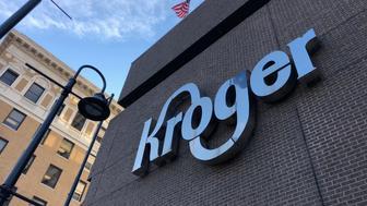 The Kroger supermarket chain's headquarters is shown in Cincinnati, Ohio, U.S., June 28, 2018.  Picture taken June 28, 2018.  REUTERS/Lisa Baertlein