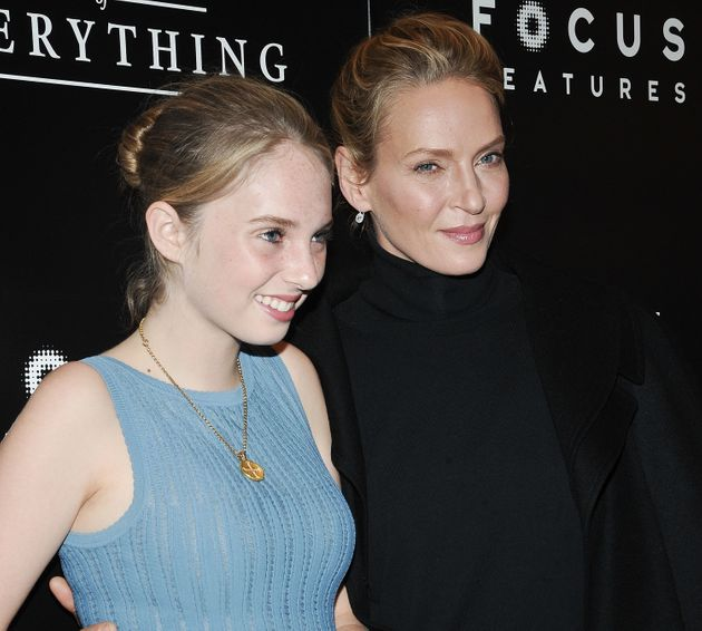 Maya Hawke and Uma Thurman attend a movie premiere in