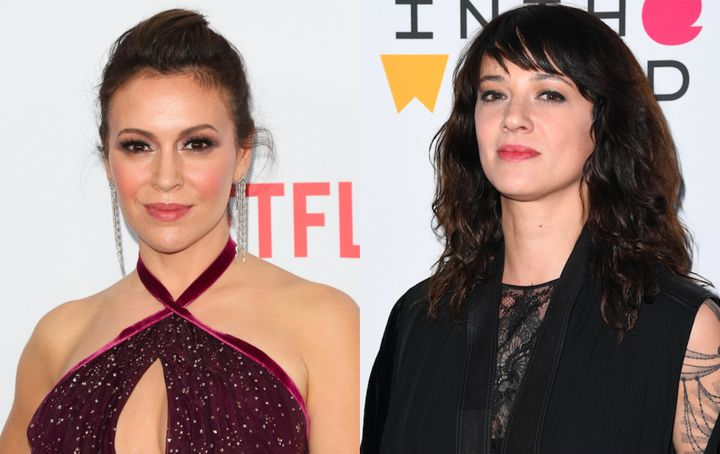 """Alyssa Milano (left) addressed the sexual misconduct allegations against Asia Argento (right) in an interview with """"Goo"""