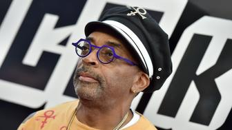 BEVERLY HILLS, CA - AUGUST 08:  Spike Lee arrives at the premiere of Focus Features' 'BlacKkKlansman' at Samuel Goldwyn Theater on August 8, 2018 in Beverly Hills, California.  (Photo by Axelle/Bauer-Griffin/FilmMagic)