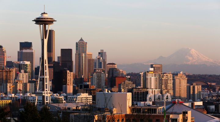 This is what the Seattle skyline is supposed to look like in the summer.