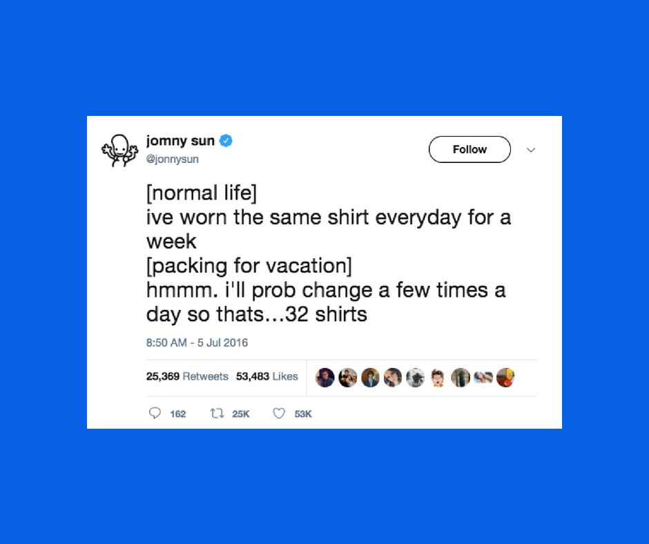 18 Highly Relatable Tweets For All The Overpackers Out