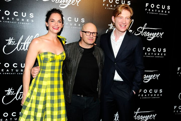 "Ruth Wilson, Lenny Abrahamson and Domhnall Gleeson at the ""Little Stranger"" premiere in New York on Aug. 16, 2018."