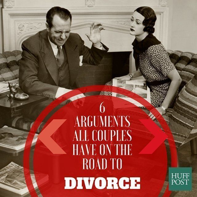 6 arguments all couples have before they divorce