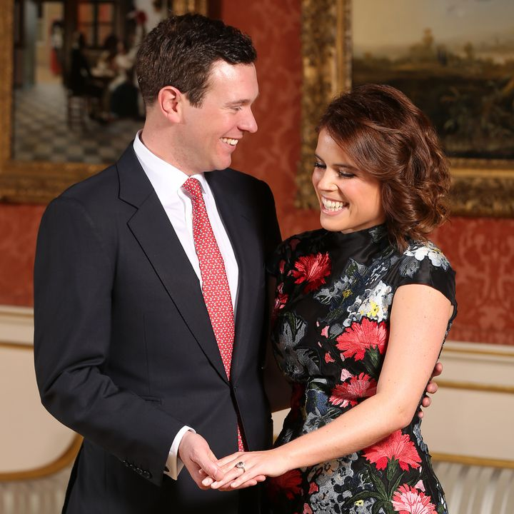 For her engagement pics, Eugenie wore shoes by Jimmy Choo and a dress by Erdem, a British fashion house that many speculate she's tapped to design her wedding dress.