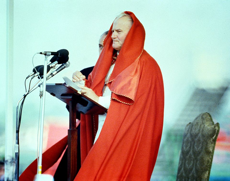 Pope John Paul II speaking at Dublin Airport in