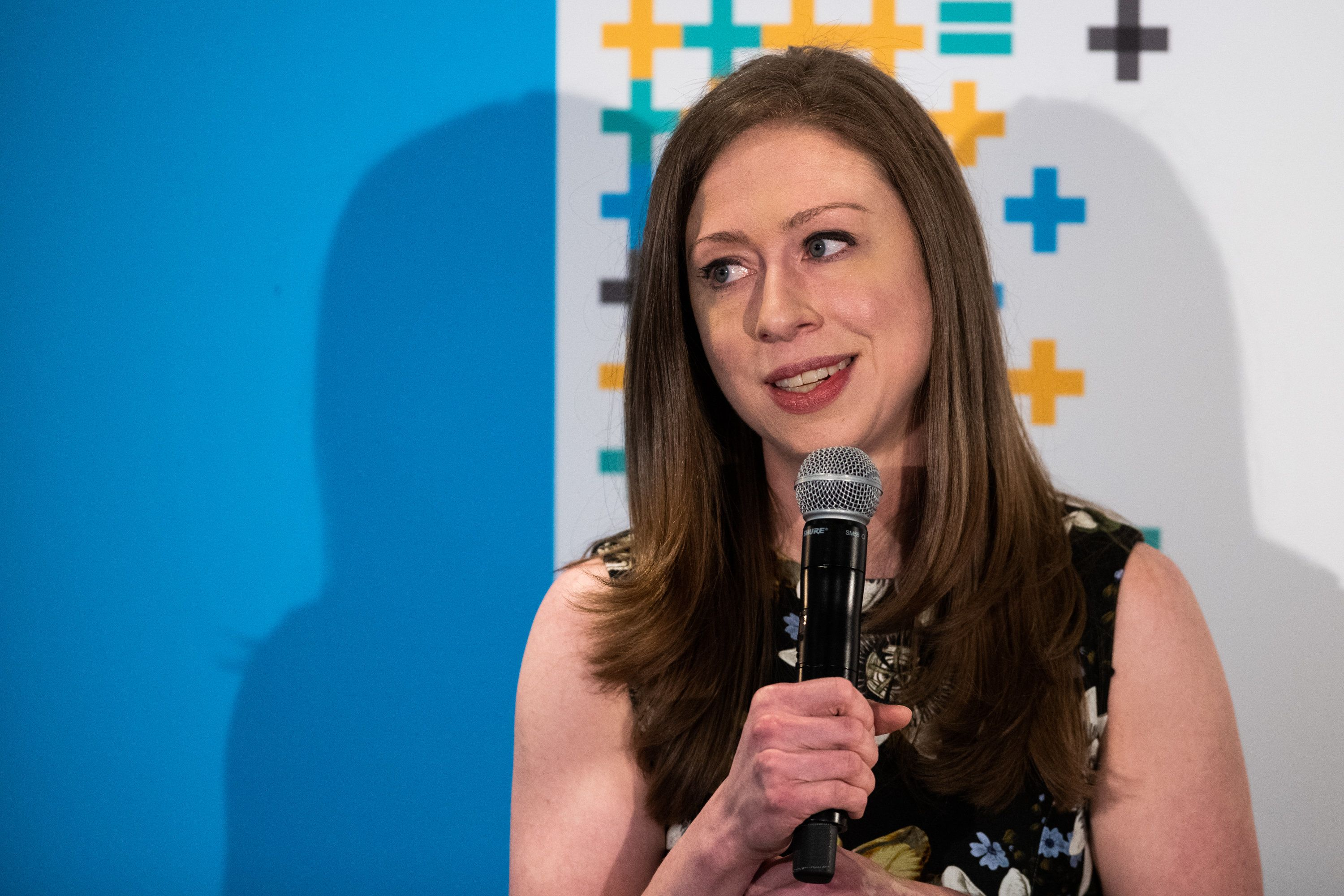 Chelsea Clinton, vice chairman of the Clinton Foundation, speaks during the Bloomberg Business of Equality conference in New York, U.S., on Tuesday, May 8, 2018. The conference brings together business, academic and political leaders as well as nonprofits and activists to discuss the future of equality, how we get there and what is at stake for the economy and society at-large. Photographer: Mark Kauzlarich/Bloomberg via Getty Images