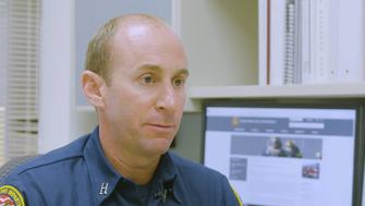 This firefighter watched his own neighborhood go up in flames