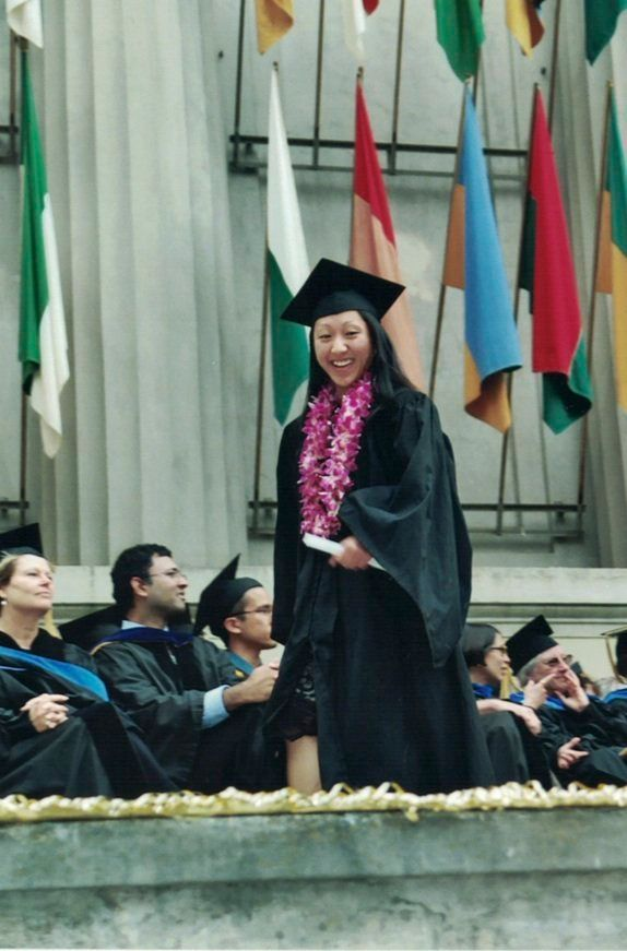 The author at her college graduation.