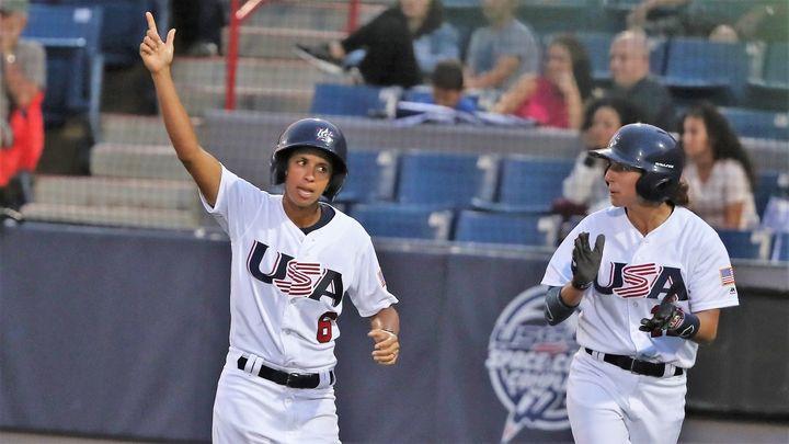 Team USA's Malaika Underwoodcelebrates on Aug. 23, 2018, in Viera, Florida.