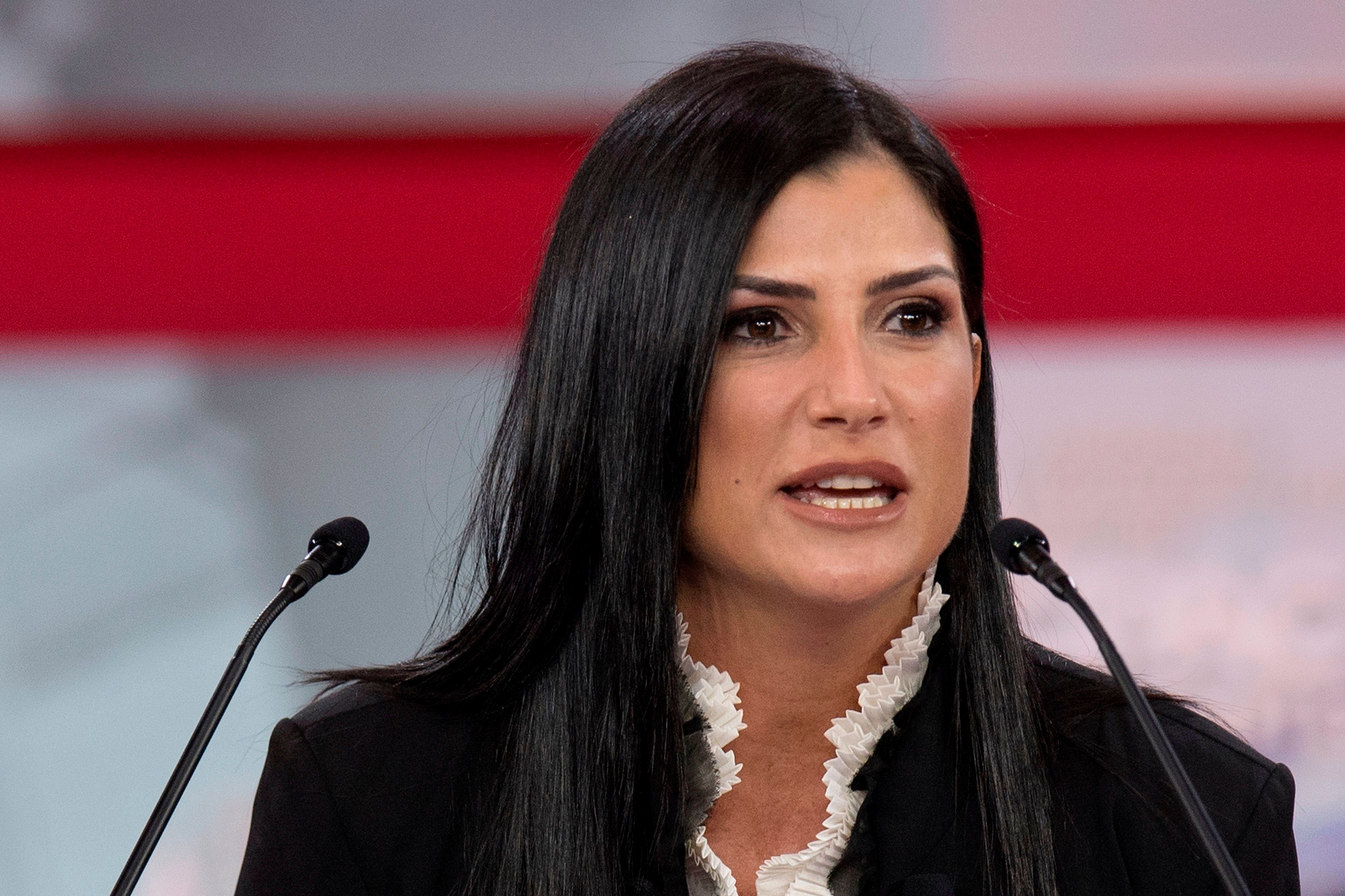 Spokesperson for the National Rifle Association (NRA) Dana Loesch speaks during the 2018 Conservative Political Action Conference at National Harbor in Oxon Hill, Maryland on February 22, 2018. / AFP PHOTO / JIM WATSON        (Photo credit should read JIM WATSON/AFP/Getty Images)