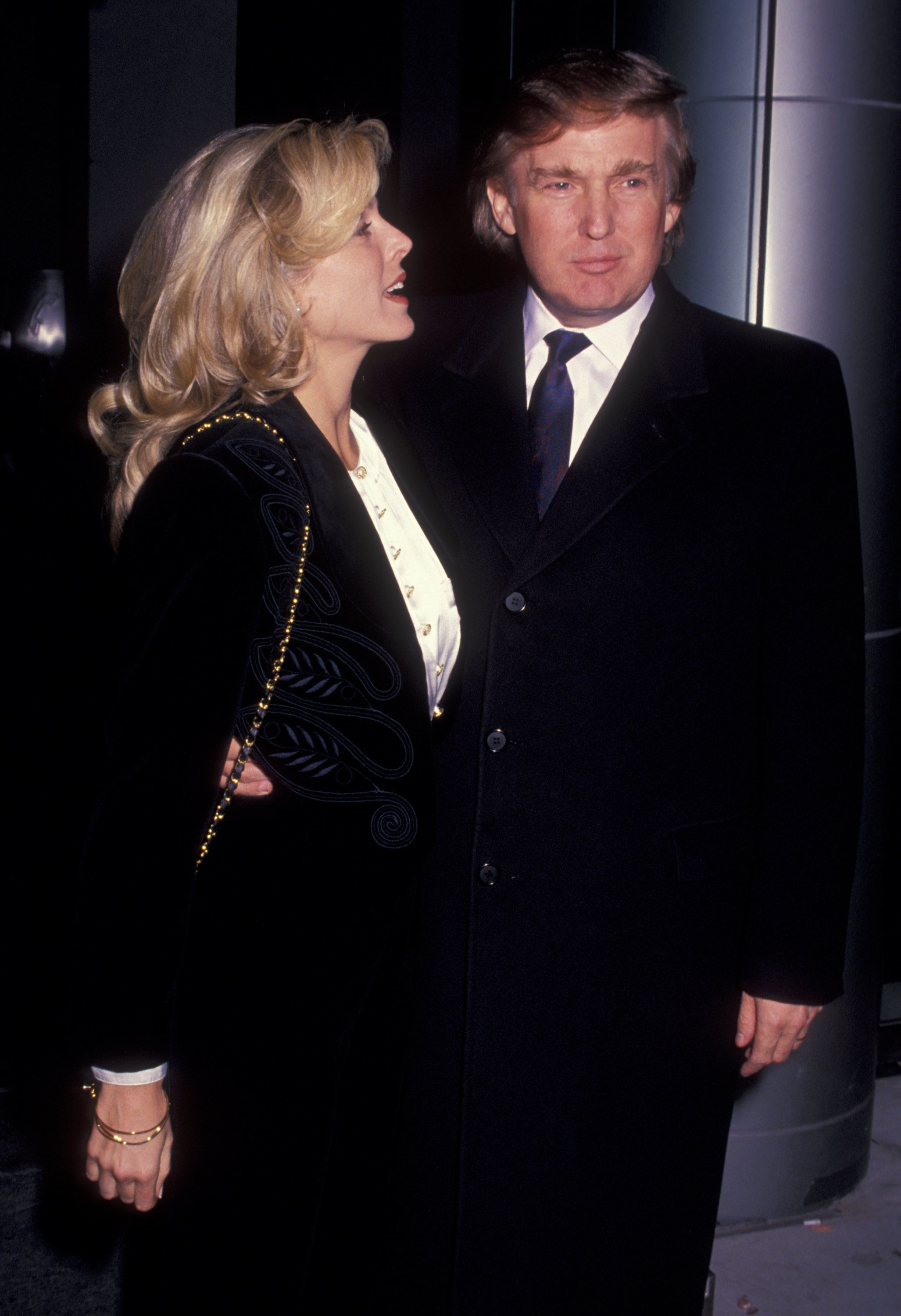 NEW YORK CITY - DECEMBER 13:  Donald Trump and Marla Maples attend 'The Jungle Book' Screening on December 13, 1994 at the Sony Lincoln Square Theater in New York City. (Photo by Ron Galella/WireImage)