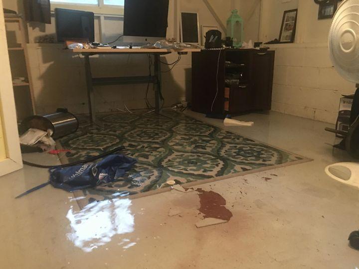 The first floor of Orais-Bonheimer's home flooded Thursday night.