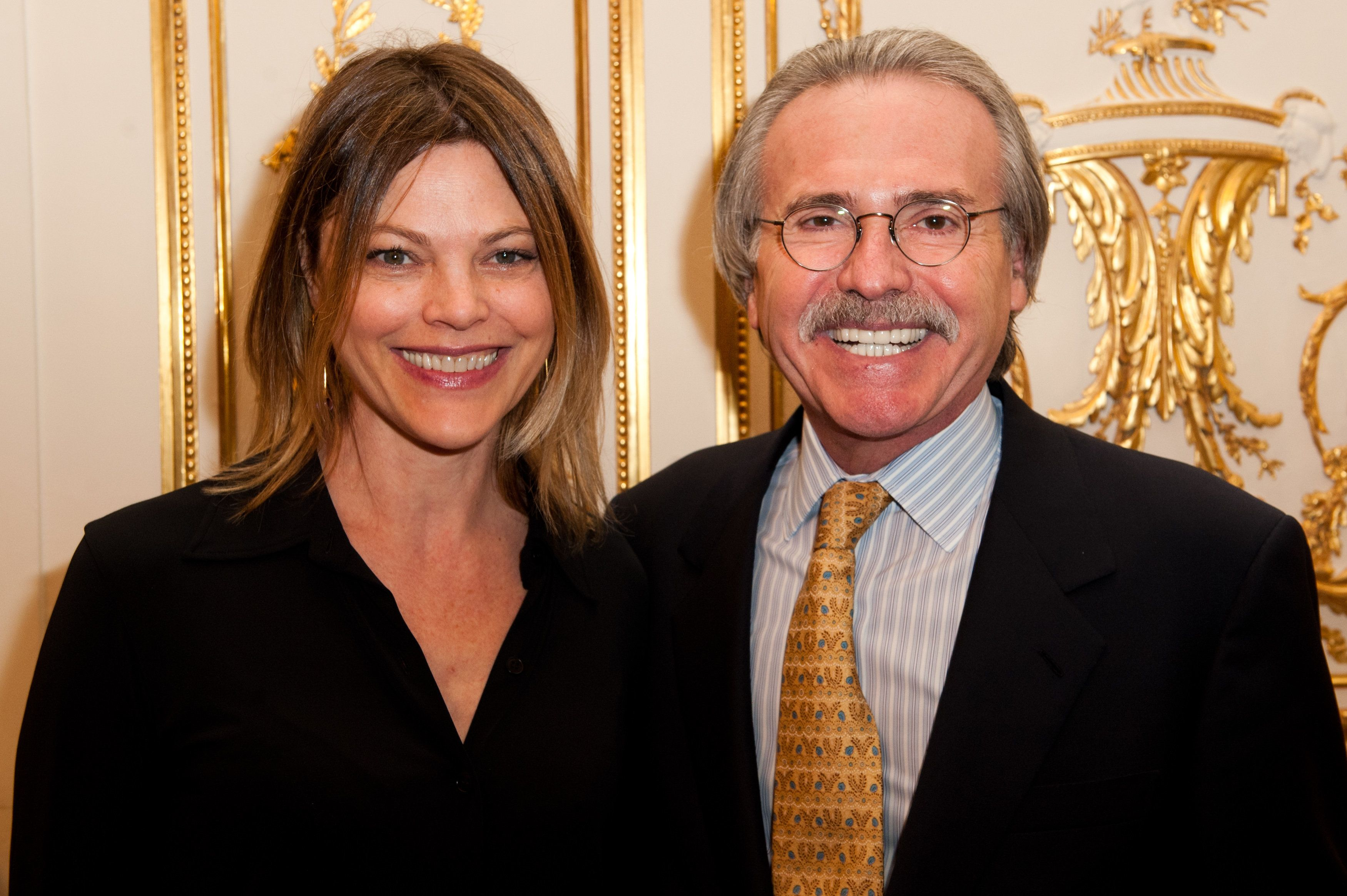 David Pecker and Alexandra Kazan pictured in 2012.
