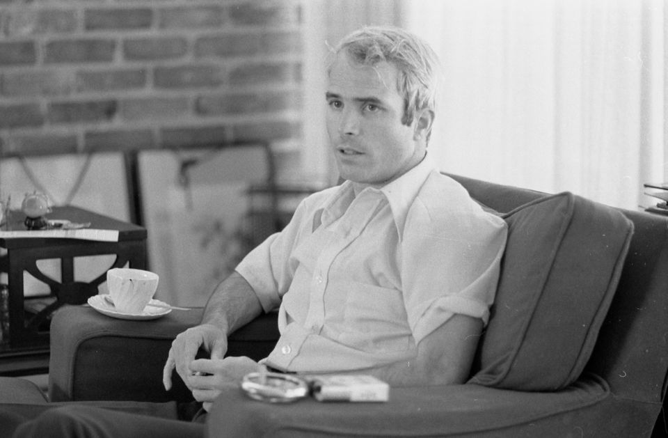 Then-U.S. Navy Lt. Cmdr. John McCain is interviewed about his experiences as a prisoner of war during the war in Vietnam on A