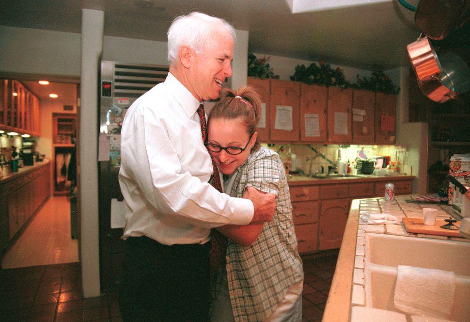 McCain at his home in Phoenix, Arizona.