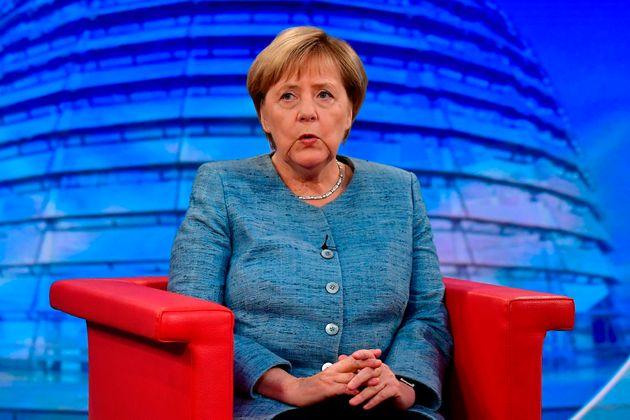 Kanzlerin Angela Merkel beim Sommerinterview im Studio der