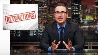 John Oliver host of Last Week Tonight corrects the record