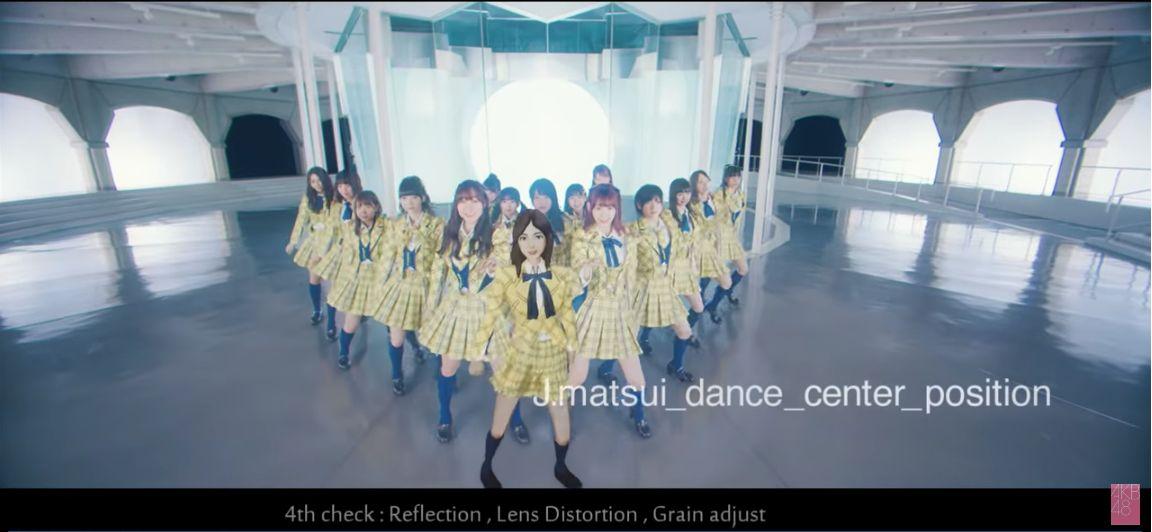 AKB48이 뮤직비디오에서 마츠이 쥬리나를 CG로 대체했다