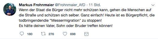 """Krawall in Chemnitz: """"AfD-Abgeordneter erklärt Selbstjustiz zur"""