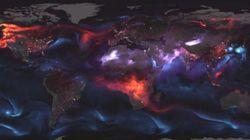 Cette carte des intempéries de la NASA est