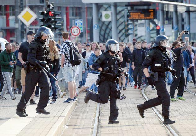 Die Polizei in Chemnitz am