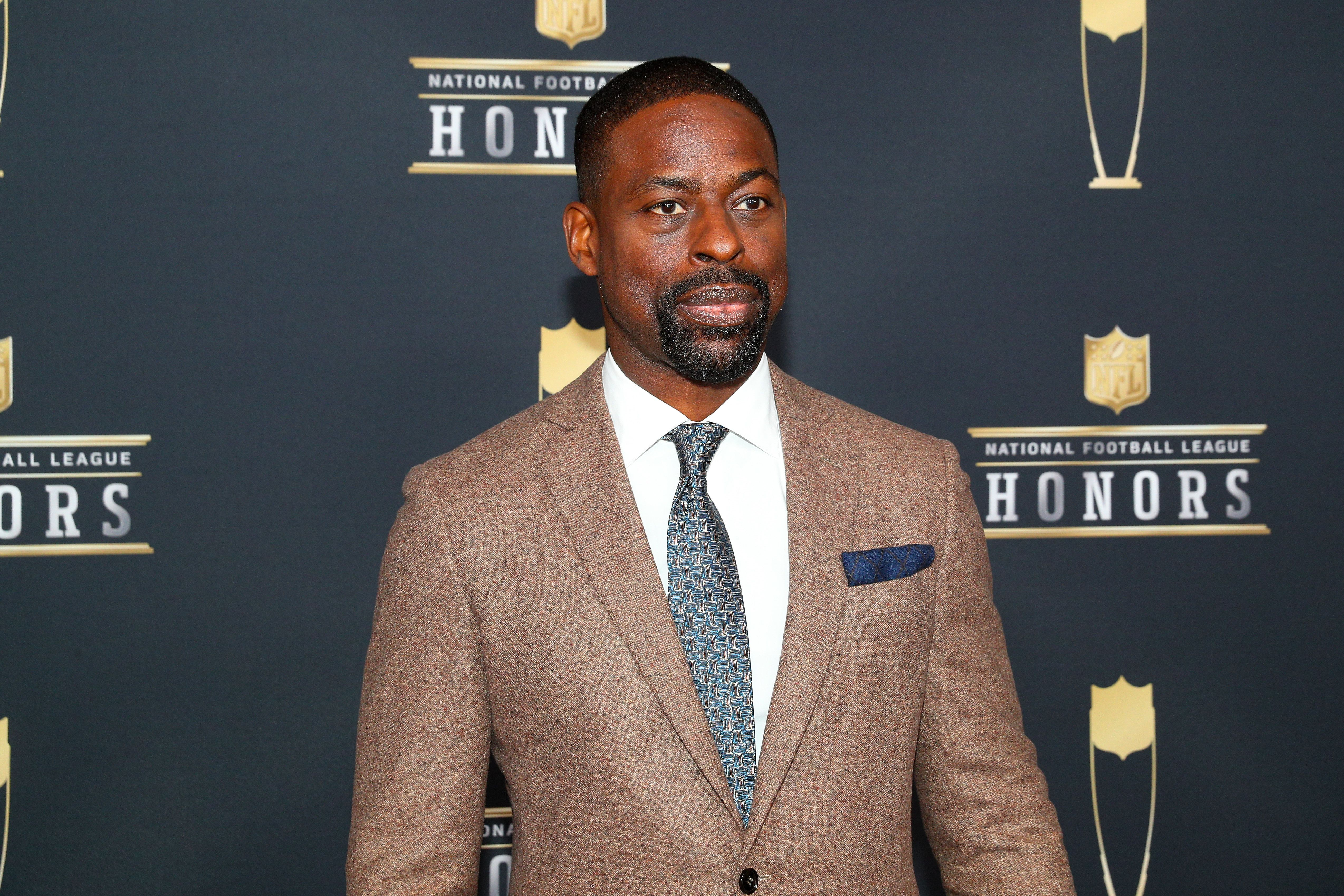 MINNEAPOLIS, MN - FEBRUARY 03:   Actor Sterling K Brown poses for Photographs on the Red Carpet at NFL Honors during Super Bowl LII week on February 3, 2018, at Northrop at the University of Minnesota in Minneapolis, MN.  (Photo by Rich Graessle/Icon Sportswire via Getty Images)