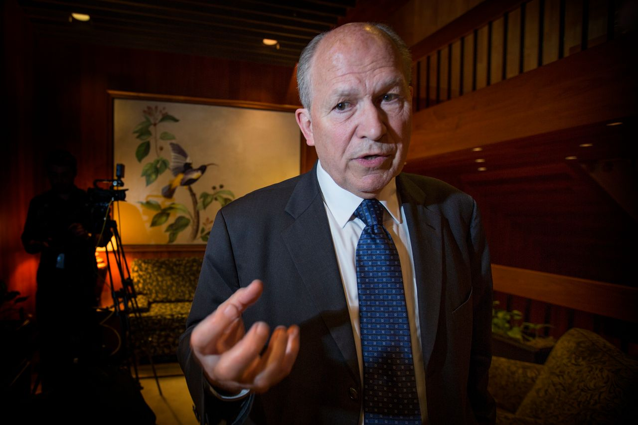 Alaska Gov. Bill Walker in Anchorage. He faced strong criticism after cutting the dividends paid out to residents through the state's permanent fund.