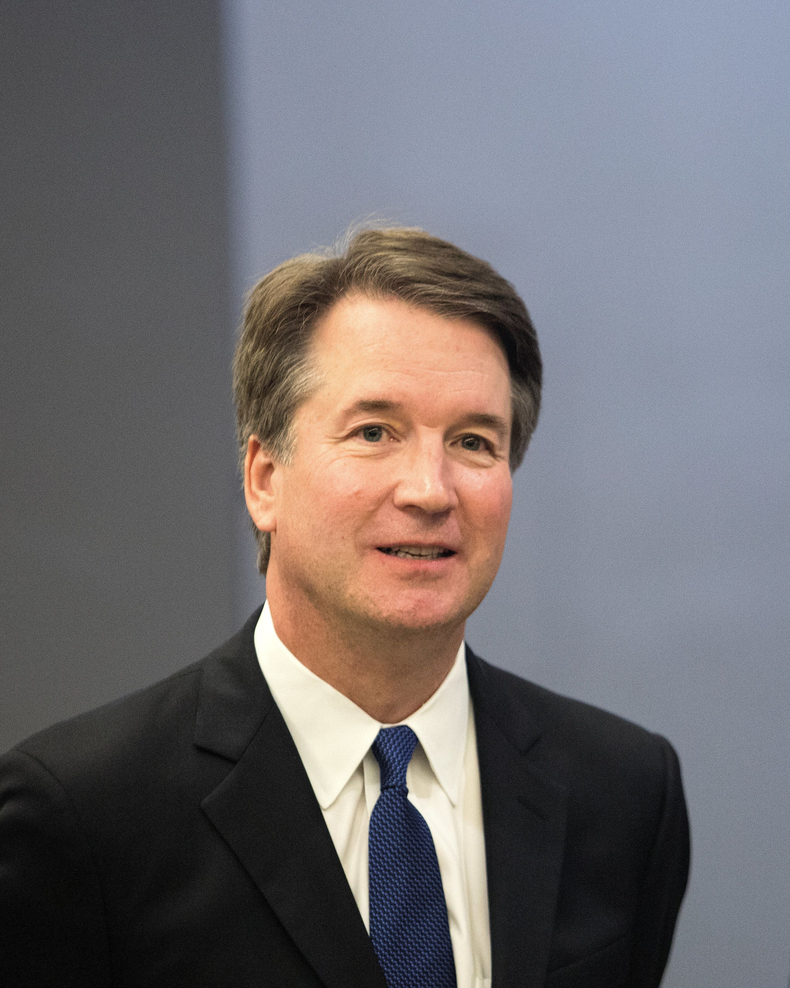U.S. Supreme Court  nominee Brett Kavanaugh seen before meeting with U.S. Senator Amy Klobuchar at the Hart Senate Office Building in Washington, U.S.,  August 21, 2018. REUTERS/Alex Wroblewski