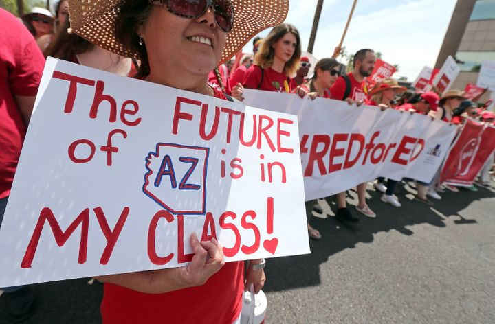 A teacher's strike in Arizona this spring over low state funding for public schools has damaged GOP Gov. Doug Ducey's politic