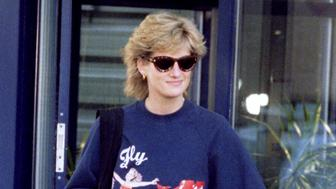 """The Princess of Wales departs from her morning gym session November 20, on the day the BBC will broadcast a television interview with the Princess in a """"Panorama"""" documentary"""