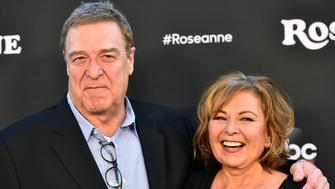 BURBANK, CA - MARCH 23:  John Goodman and Roseanne Barr attend the premiere of ABC's 'Roseanne' at Walt Disney Studio Lot on March 23, 2018 in Burbank, California.  (Photo by Alberto E. Rodriguez/Getty Images)