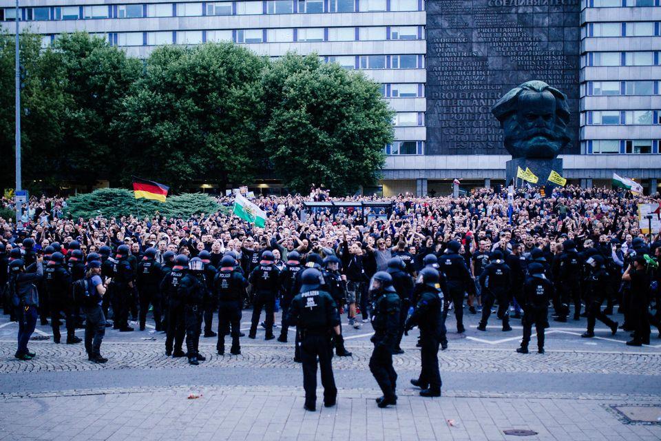 Die Demonstranten von