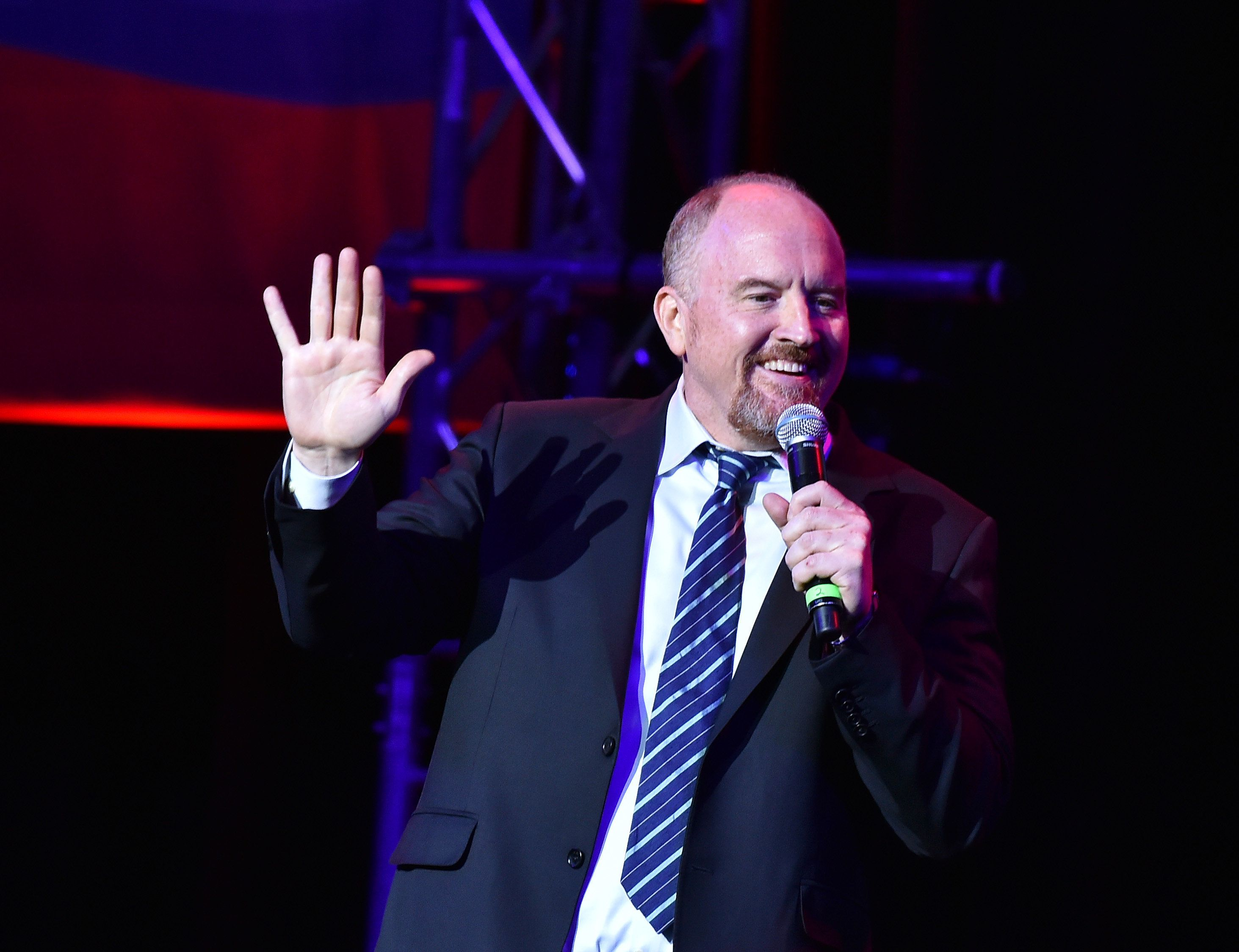 NEW YORK, NY - NOVEMBER 01:  Louis C.K. performs on stage during 10th Annual Stand Up For Heroes at The Theater at Madison Square Garden on November 1, 2016 in New York City.  (Photo by Theo Wargo/Getty Images)