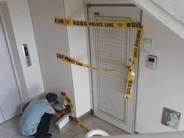 지난 25일 충북 옥천군의 한 아파트에서 발생한 일가족 살해사건