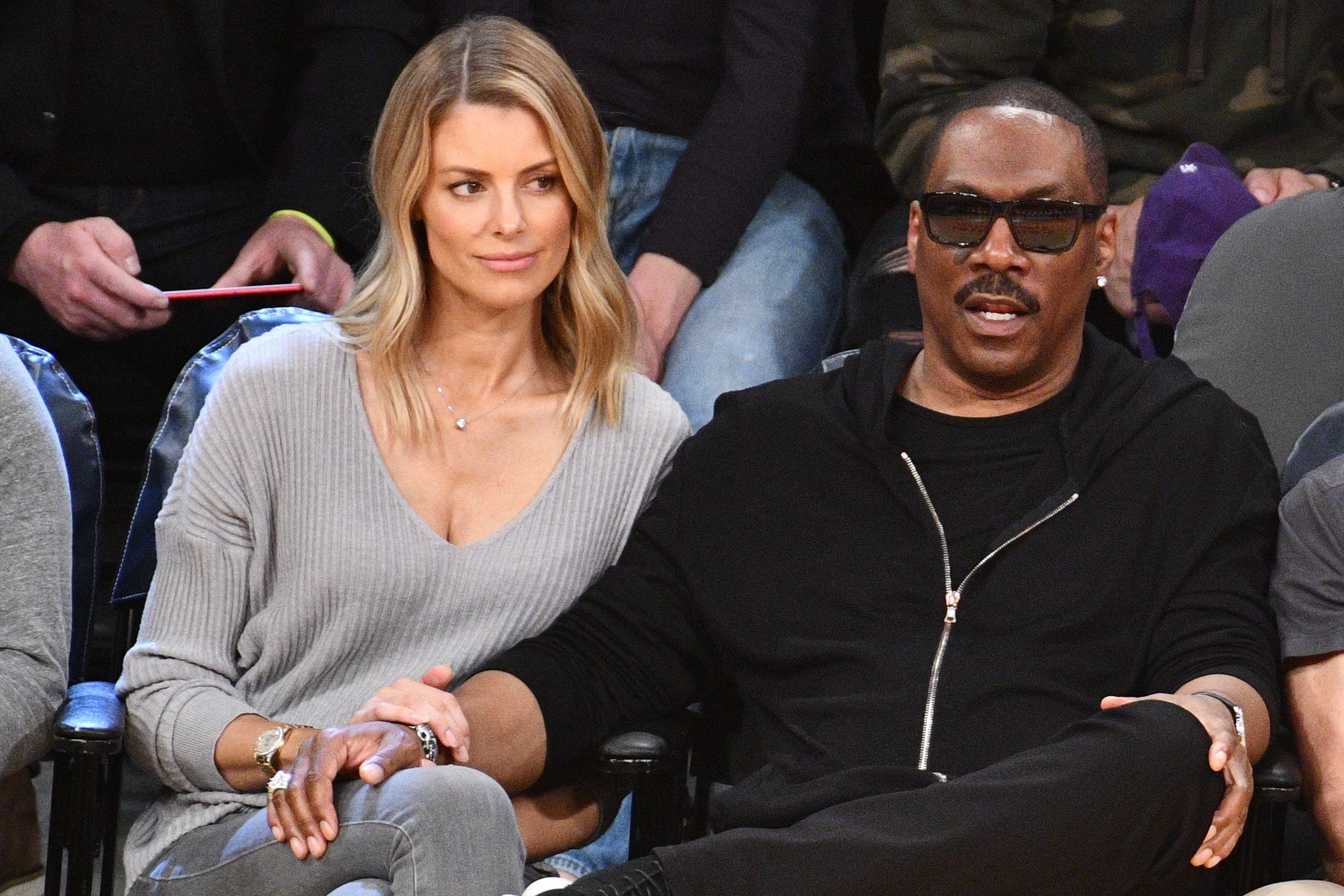 Eddie Murphy and girlfriend Paige Butcher, pictured in April, have confirmed a baby is on the way.