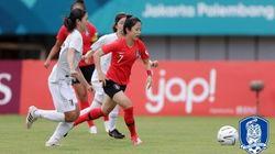 아시안게임 여자축구 대표팀이 일본에 1-2로