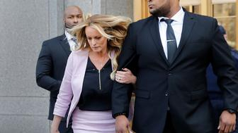 Adult-film actress Stephanie Clifford, also known as Stormy Daniels, departs federal court in the Manhattan borough of New York City, New York, U.S., April 16, 2018. REUTERS/Shannon Stapleton