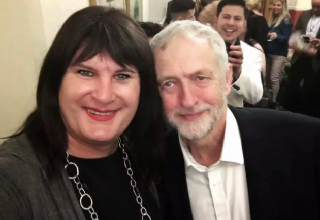 Jeremy Corbyn with trans activist Sophie